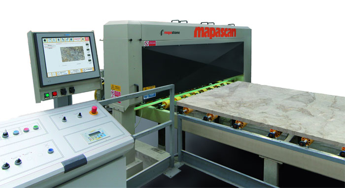 Mapascan scan stone slabs automatically from the line of production
