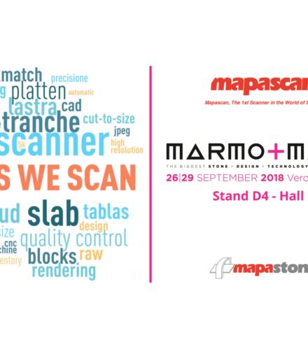 Mapascan at Marmomacc 2018 – Verona – Italy